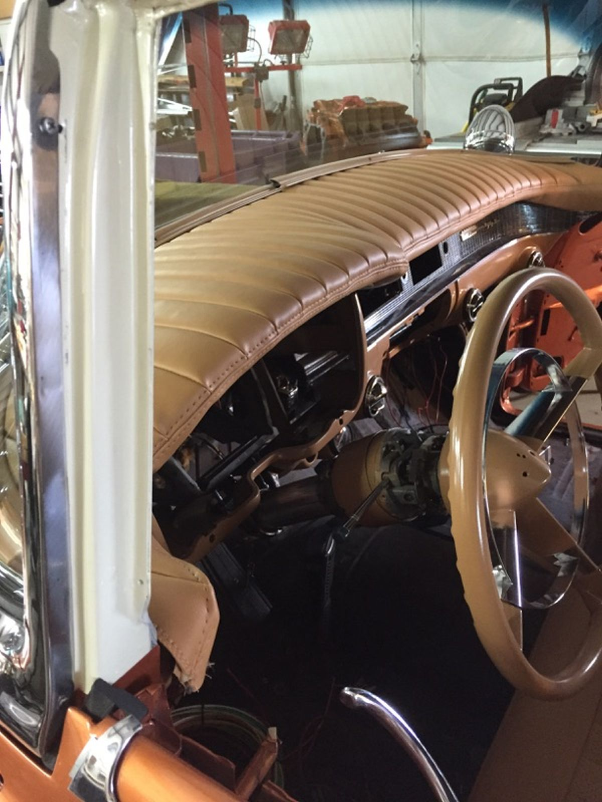 What Are You Working On Ron Brown's 1956 Cadillac Promises. Left Split Bench Seat Is From An 1976 Cadillac Eldorado Tops Were Cut Down 3 Inches So They Wouldn't Stick Above Door Line. Cadillac. 55 Cadillac Wiring Seat At Scoala.co