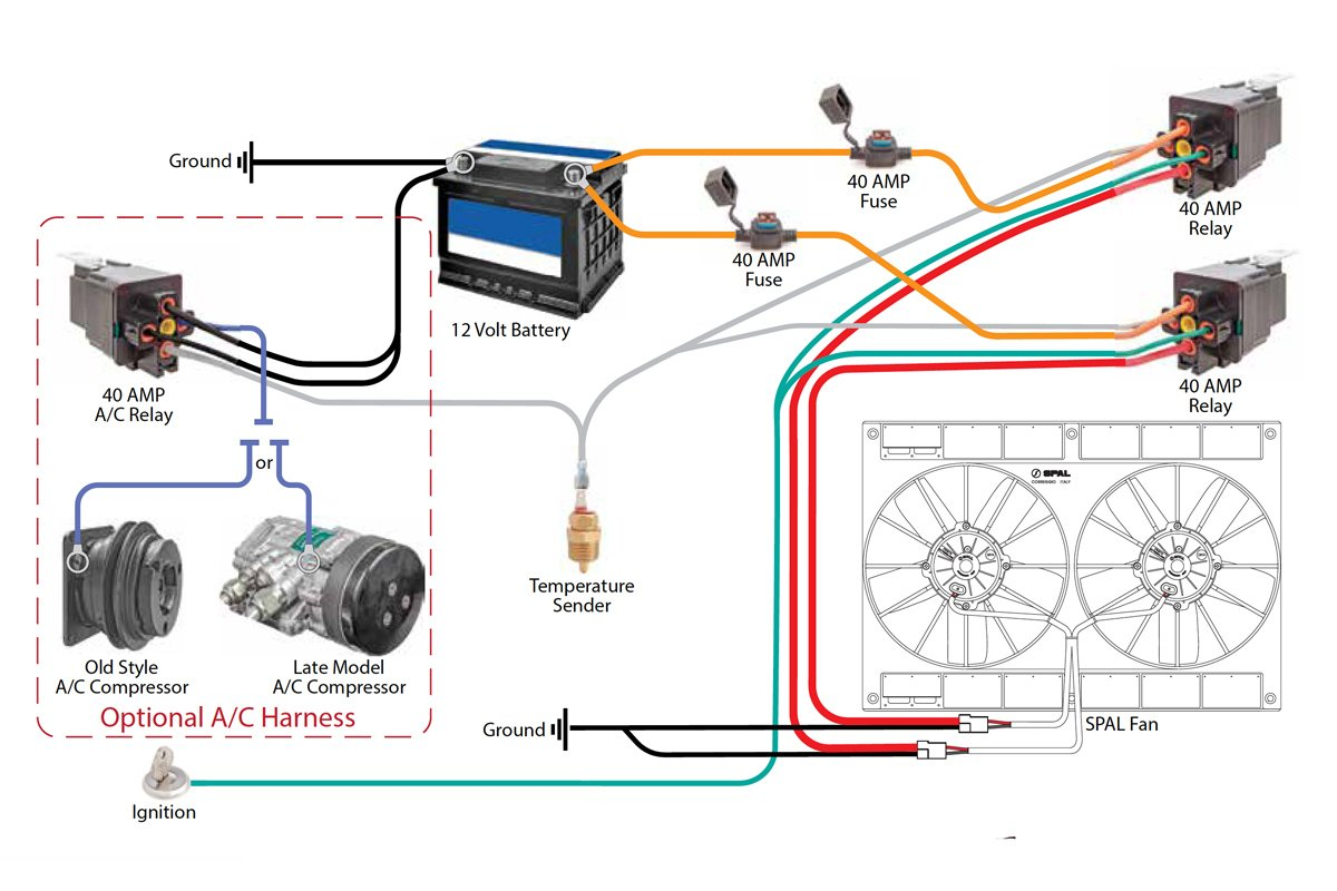 Wiring Safely Fan Relay Wiring With C&r Racing AC Run Capacitor Wiring  Diagram Ac Fan Relay Wiring Diagram