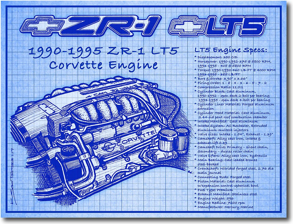 A Look At The C4 ZR-1's Jewel-Like, All-Aluminum DOHC LT5 Engine