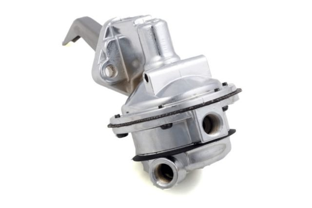 Available for small- and big-block Chevy, Ford and Chrysler engines, QFT's 110 GPH mechanical fuel pumps can support up to 350 hp. Integrated shutoff valves set at 6.5-8 psi eliminate the need for a separate pressure regulator. QFT also offers 130 GPH units for small-block Chevys that are good for over 400 hp.