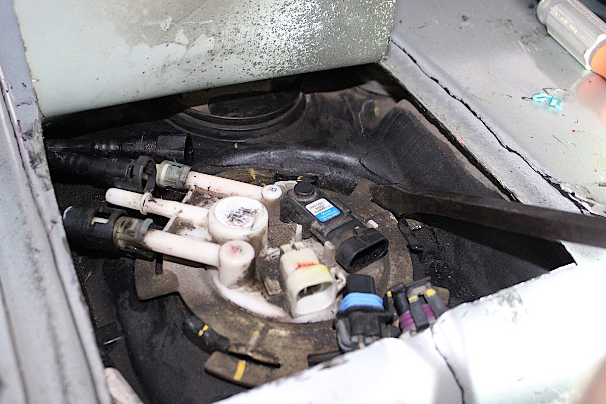 How To Convert A Fourth Gen F Body E85 With Fic Gm Flex Fuel Sensor Wiring Prevent Debris From Falling Into The Tank We Cleaned As Best Could Before Disconnecting Connections And
