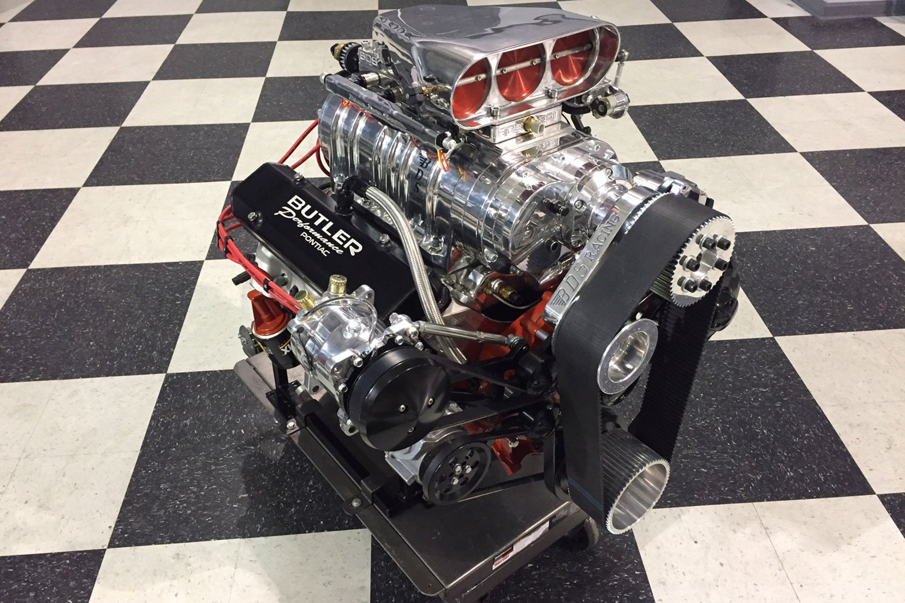 Engine Spotlight Butler Performances 535ci Blown Pontiac March Serpentine Performance Uses Its Own In House Components For A Number Of The Motors Internals Including An 80psi Oil Pump Two Piece 083 X 5 16 Restricted