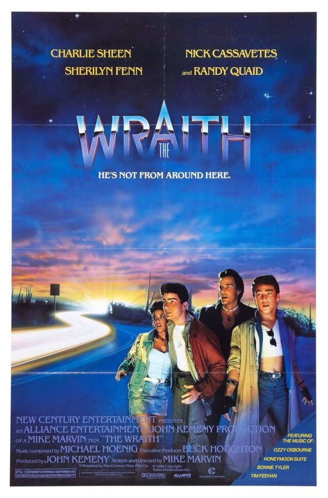 The Wraith theatrical movie poster.