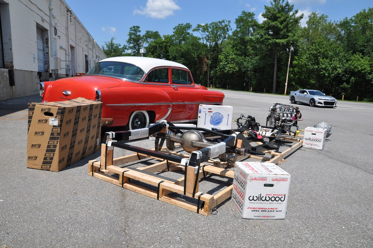 Ati Is Building A Hot Rod Bel Air And It Takes Cool To New Level Wiring Kits The Ecu Tcu Pedal Kit All Oem Gm Oe Chevrolet Exhaust Manifolds Most Of Stock Zl1 Camaro In Conjunction With Borla Ss