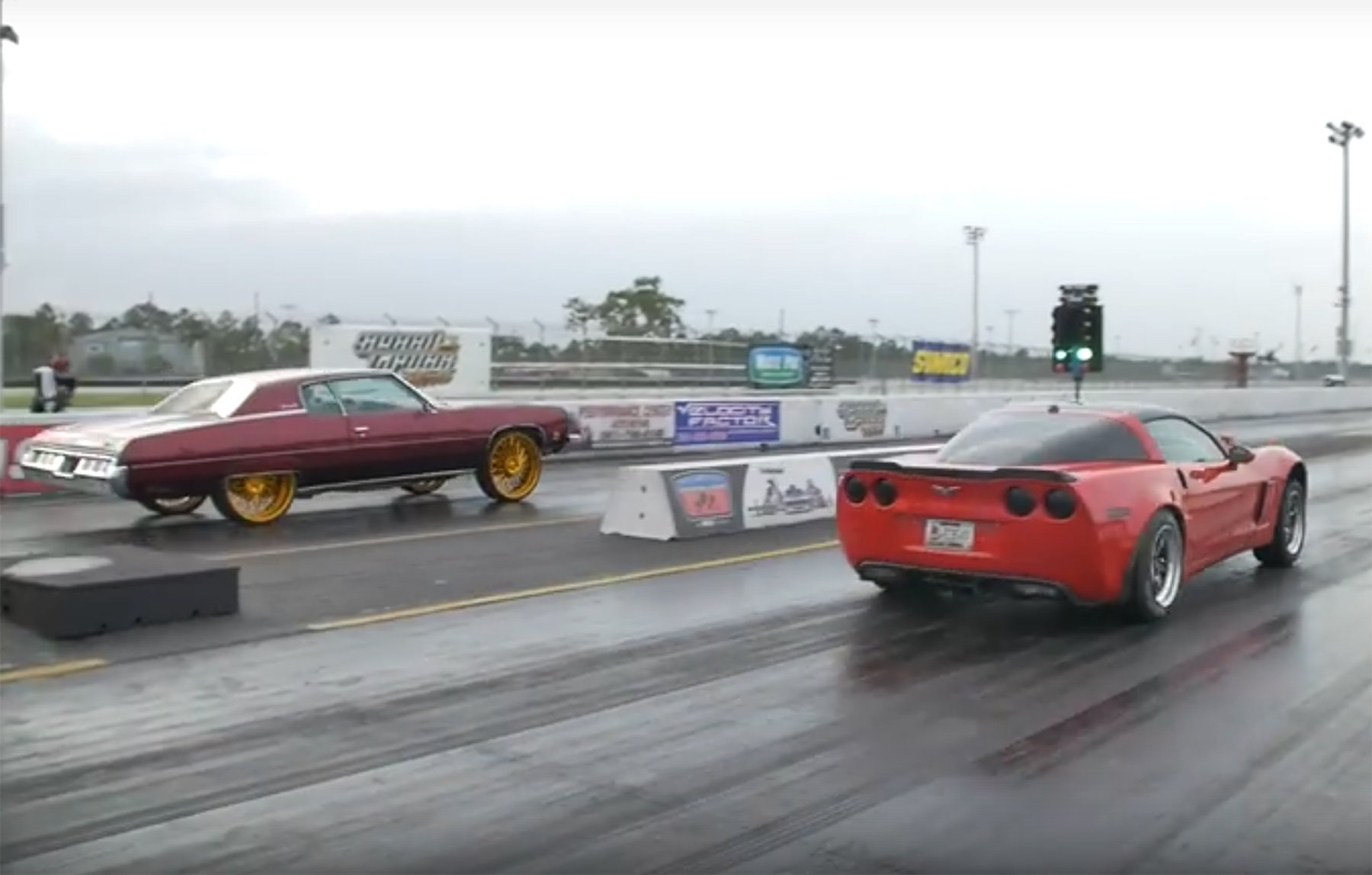 donk drag racing really is a thing and the cars are legit