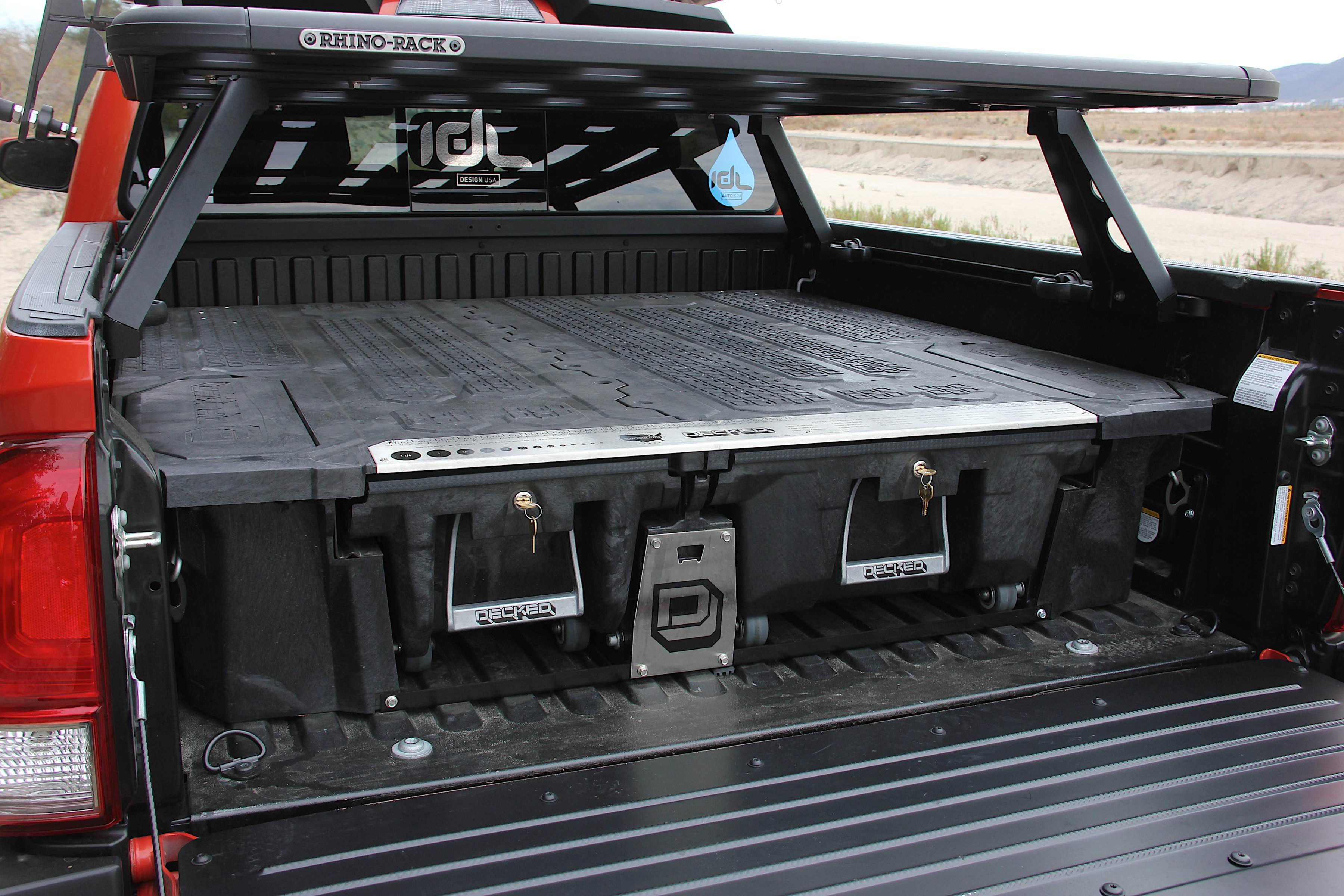 Decked Out Toyota Tacoma With Decked In Bed Storage System
