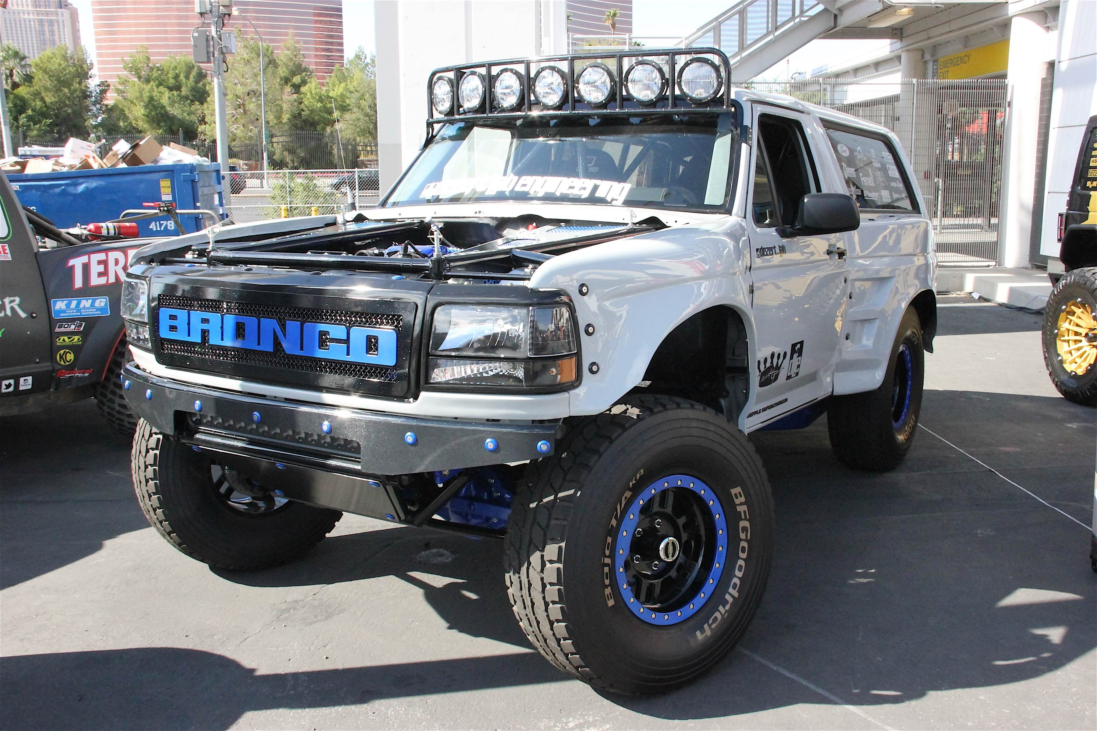Show a number of late model vehicles can be seen everywhere especially at the sema show seeing a clean vehicle like the 1995 ford bronco we spotted at