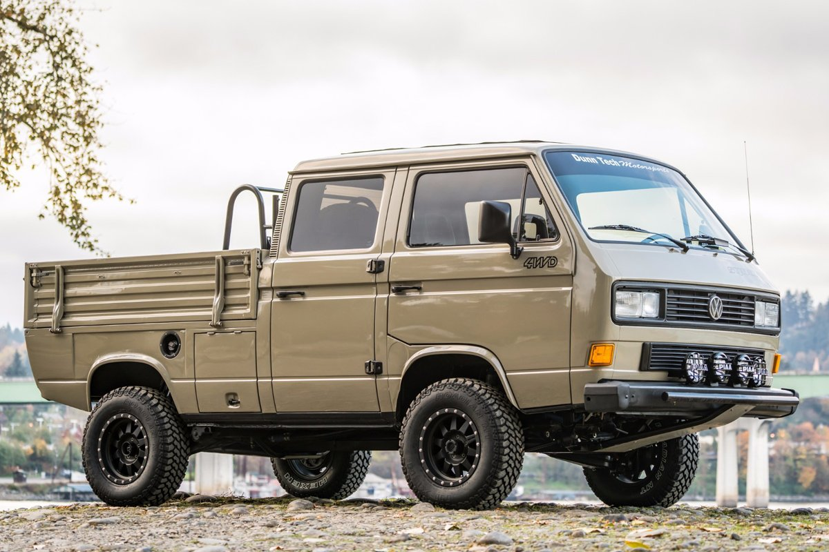 Best Off Road Tires >> Spotted: 1989 Volkswagen T3 Doka Syncro
