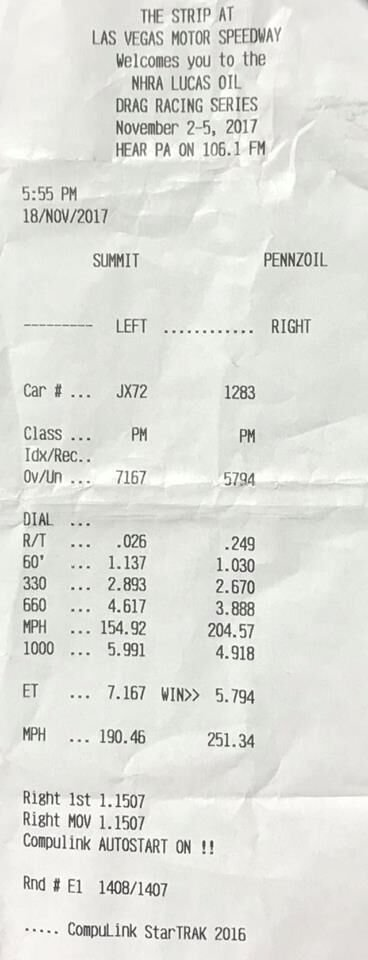 Stock Bottom End LS Record Reset At 7 16 at 190 MPH