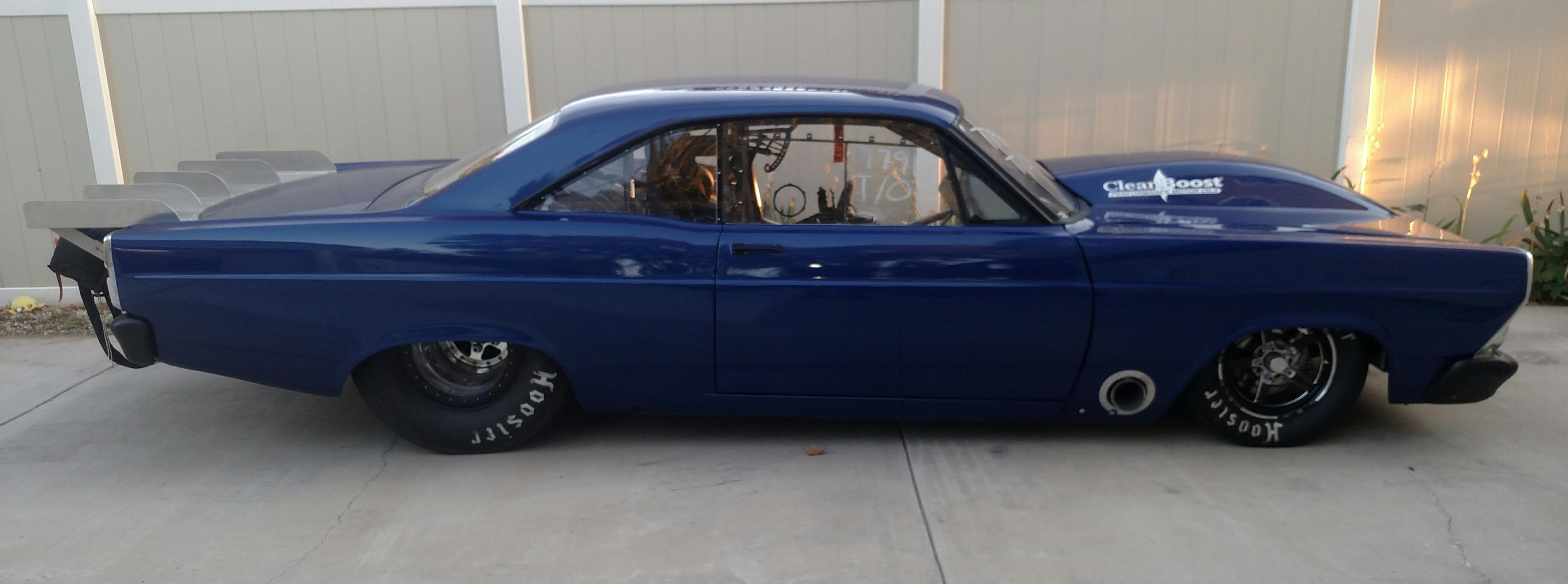 He found this 67 fairlane in houston texas in 2014 but realized it was not the best choice for a race car so he hired dean