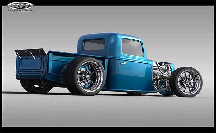 Factory fives 35 hot rod truck available to order soon or murdered out pavement pounder whats your fancy former power automedia editor mark gearhart will be getting one of the first kits and heres a render malvernweather Image collections