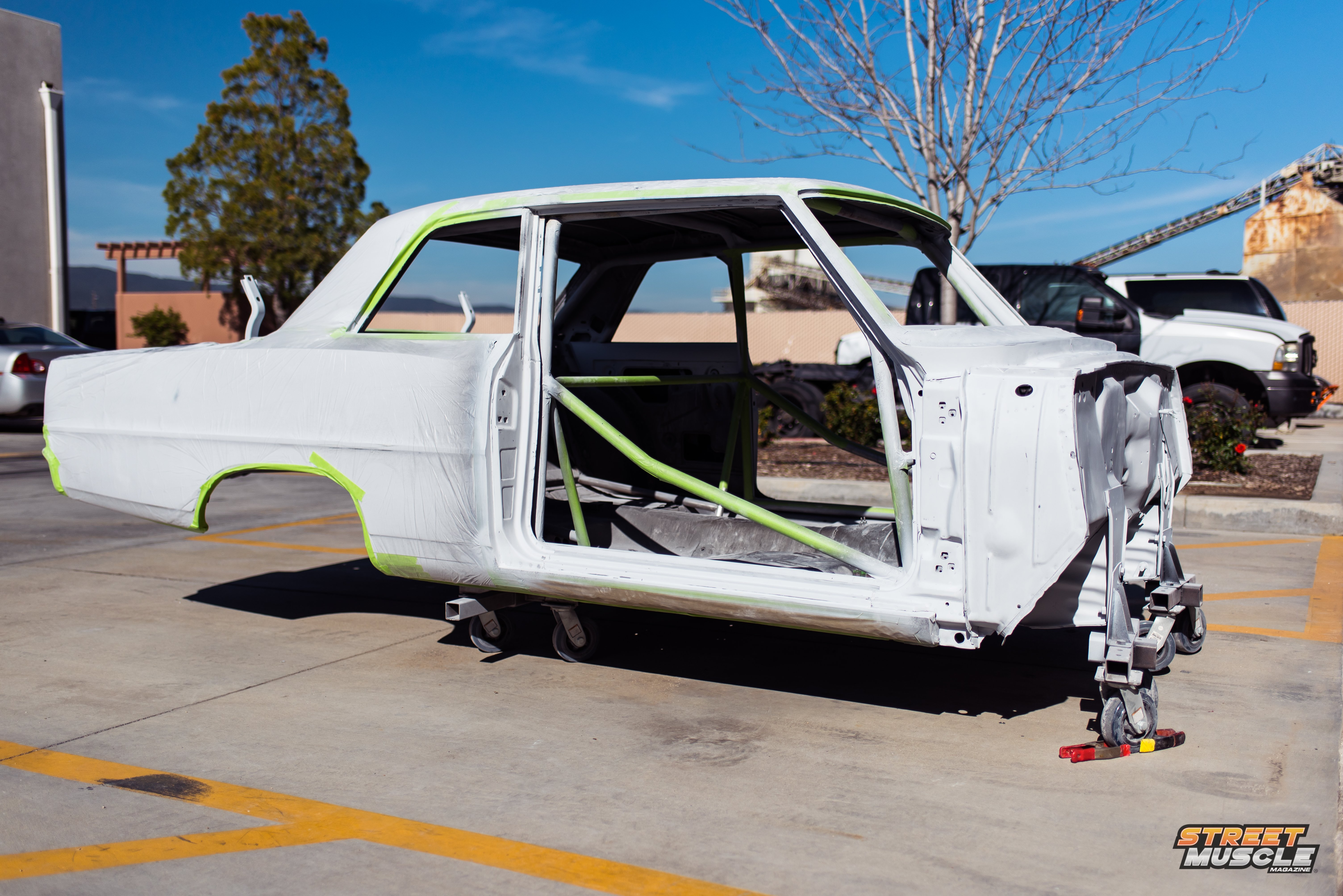 Project Maxstreet 1966 Chevy Ii Nova Build Update Dome Light Wire They Still Have A Little Bit Of Work Left To Go But We Expect The Car Take Up Residence In Paint Booth Get Top Coats Very Soon Stay Tuned