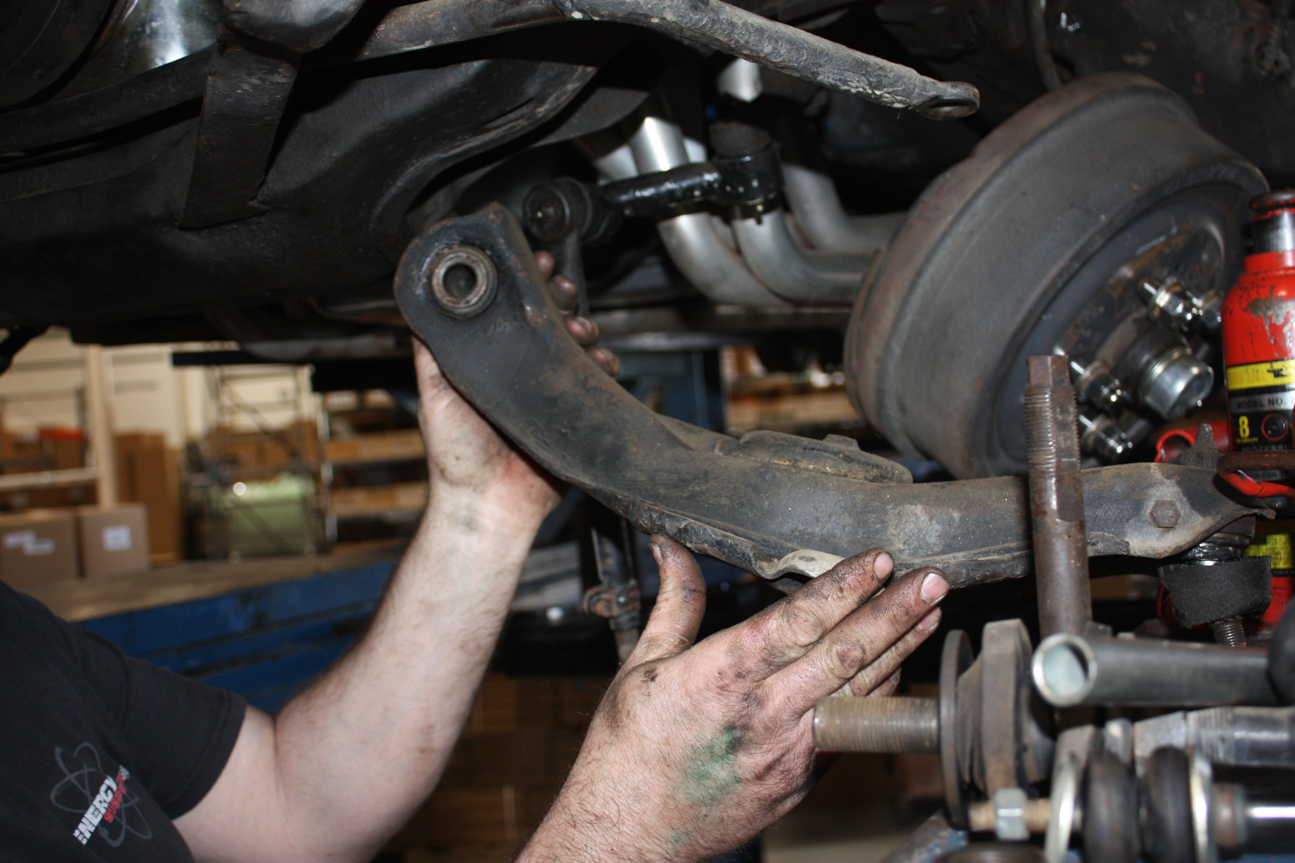 Energy Suspension 1966 Impala Ss Bushing Upgrade Chevy Removal Of The Upper And Lower Control Arms Bushings On Daves Were Wasted