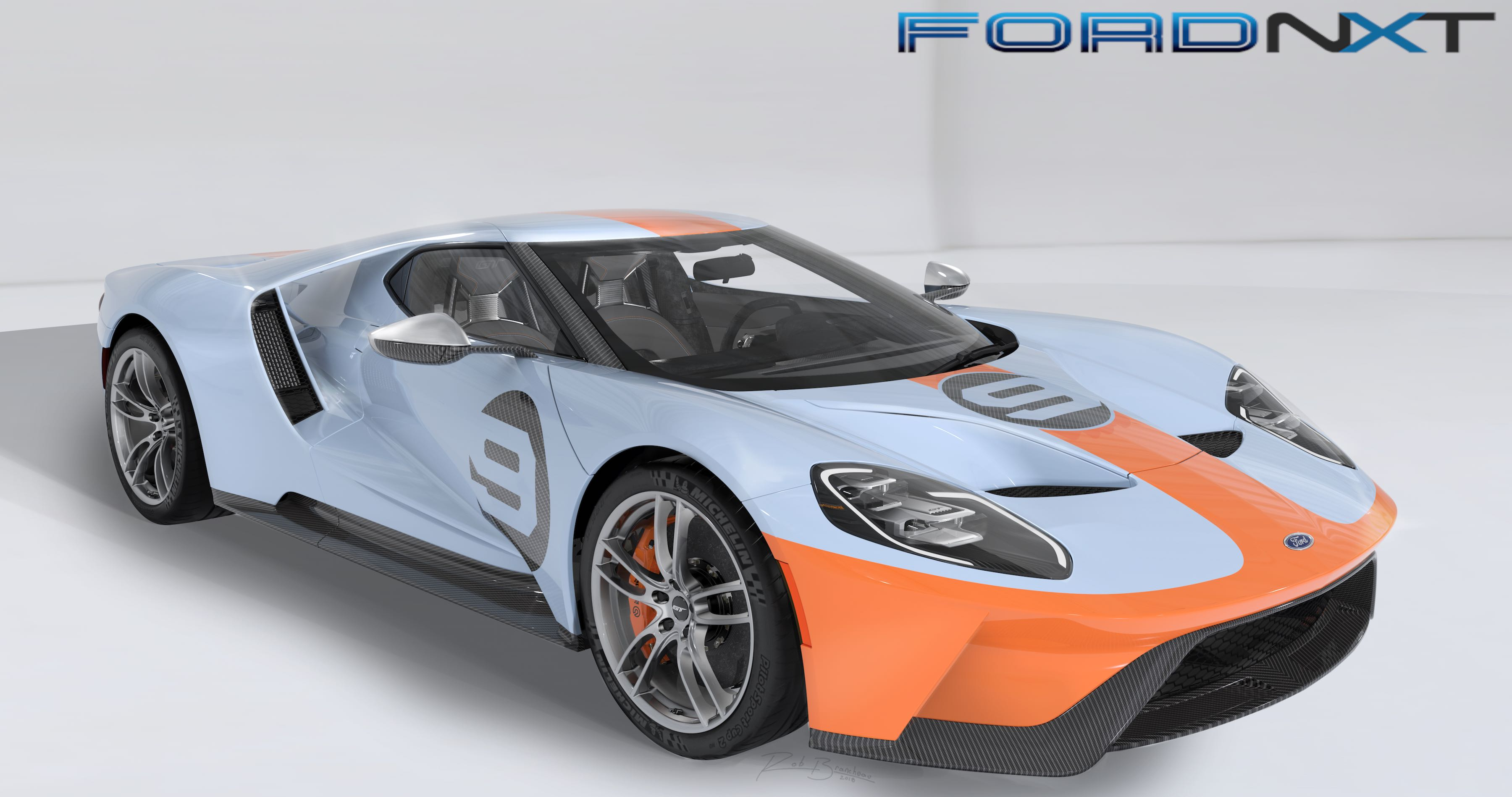 While The Heritage Orange Over Heritage Blue Gulf Oil Livery Is The Real Eye Catcher The Latest Ford Gt Heritage Edition Features A Number Of Special