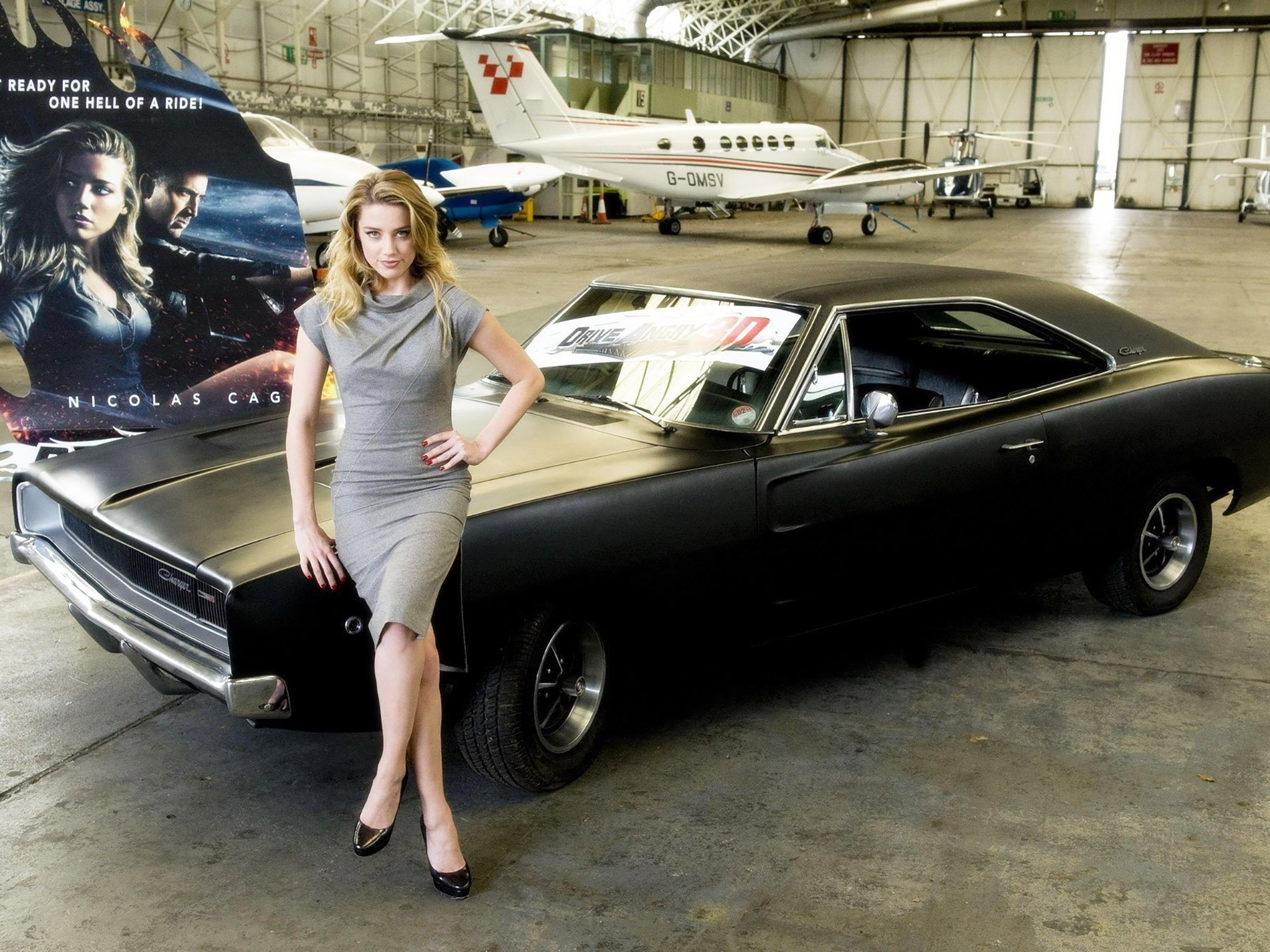 Amber Heard Posing With The Charger In A Publicity Shot Photo Courtesy Of Www Allwallpaper In