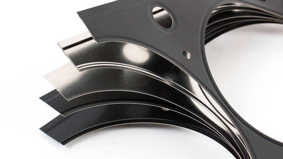 Cometic Multi-Layered Steel Gasket Cutaway