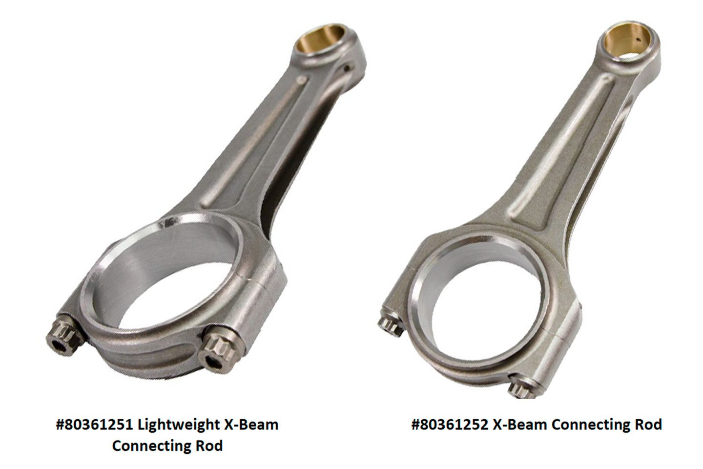 X-beam connecting rods