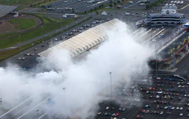 The record-breaking burnout at ZMax Dragway in 2013.